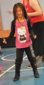 A Kaltag Elementary School student enjoys Hip Hop Class.