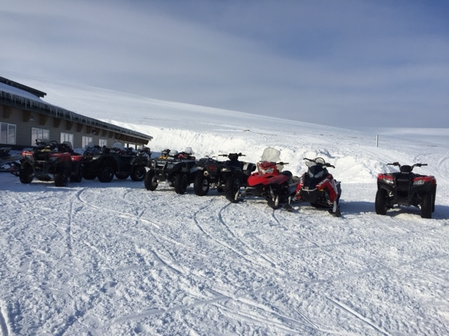 Scammon Bay School parking lot.
