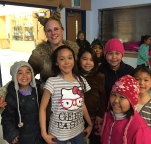 Lynx (Kadey Ambrose) with some fans.