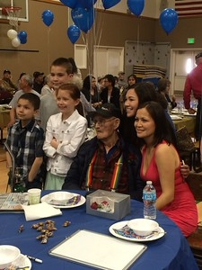 Mr. Huntington with just a few of his grandchildren and great-grandchildren.